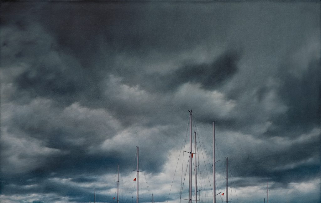 Maritime, 2008, oil on canvas, 76×120, private collection, Tel Aviv
