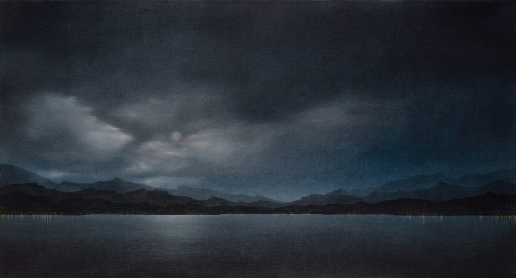 Echo, 2010, oil on canvas, 76×140