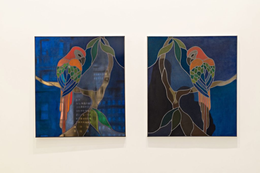 Lulou ,2015, acrylic and oil on canvas, 105×93 cm each