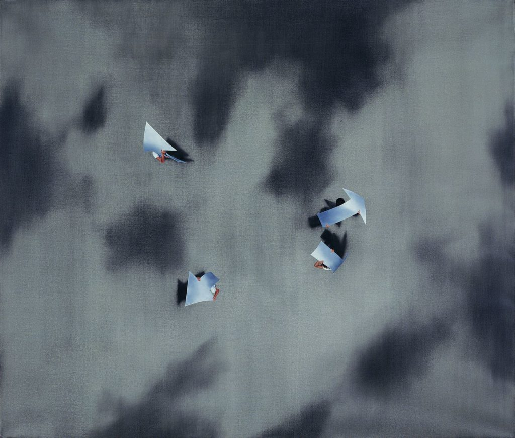 Restreet, 2006, oil on canvas, 148×175, collection of Nataly and Zvika Barinboim, Herzliya Pituach