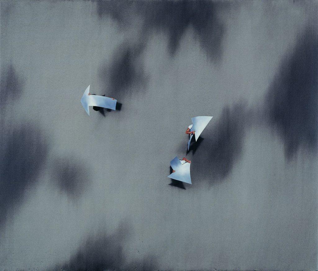 Restreet, 2006, oil on canvas, 127×150, private collection, Jerusalem